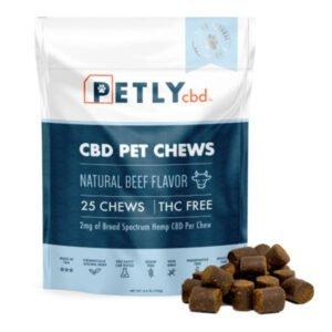 Petly CBD Pet Hemp CBD Dog Treats - 25 Chews