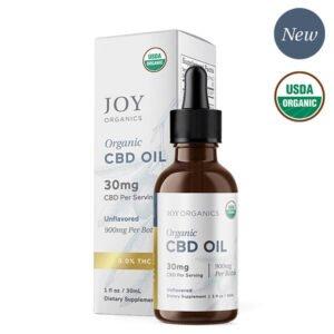 Joy Organic CBD Broad Spectrum (0.0% THC) Oil Tincture Natural Unflavored