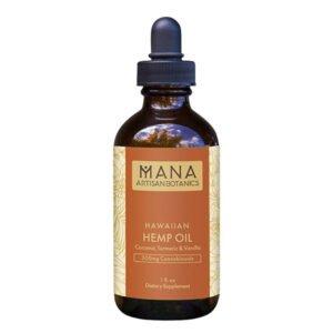 Mana Artisan Botanics Hawaiian CBD Oil: Turmeric & Vanilla 300mg